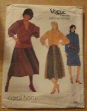 1980s Vogue Sewing Pattern 1035 American Designer Carol Horn Wrap Skirt 16 Uncut