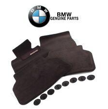 For BMW E39 525i Set of Front & Rear Black Floor Mat Carpets Genuine 82111469759