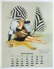 VESPA pin-up girl Nov 1961 calendar page sexy big game hunter on scooter RARO!