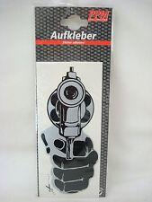 Aufkleber Revolver / Colt 17,5 x 8 cm - Cop Killer 9mm Autosticker PKW Waffe