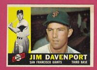 1960 Topps # 154 Jim Davenport -- San Francisco Giants -- Box 722-135