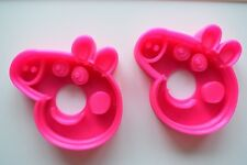 Peppa Pig Cookie Cutter. Set of 2. Pink!