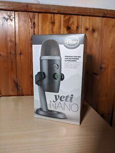 Blue Yeti Nano - Microfono a Condensatore USB Professionale - Shadow Grey