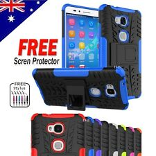 Heavy Duty Tough Strong Case Cover For Huawei GR5 | GR5 2017 + Screen Protector