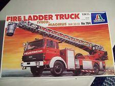 Italeri 1/24 Scale Fire Ladder Truck (Iveco Magirus Klk 23-12) Model Kit 784