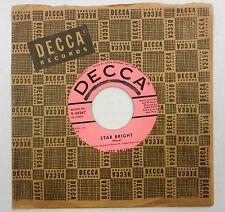 KITTY KALLEN 45 Star Bright / Gently, Johnny DECCA Pop PROMO #A959