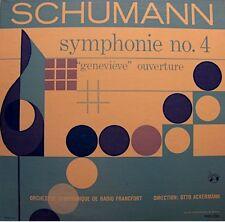 ++OTTO ACKERMANN/RADIO FRANCFORT symphonie 4 genevieve SCHUMANN LP RARE VG++