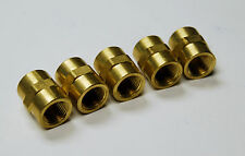 "Brass Fittings Brass Couple Female Pipe Size 3/4"" Quantity of 5"