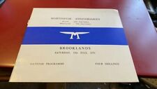 BROOKLANDS--MARTINSYDE ANNIVERSARIES--PROGRAMME0018TH JULY 1970