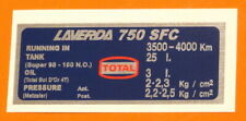 LAVERDA 750 SFC CAPACITIES/TYRE PRESSURE DECAL- METZELER
