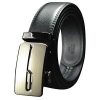 QHA Mens Genuine Leather Belt Buckle Casual Waist Jean Q5027