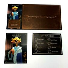 DISNEY VILLAINOUS Board Game Replacement Parts PRINCE JOHN Board Guide Card