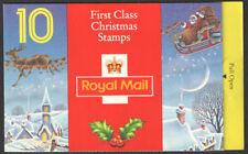 FRANCOBOLLO CODICE A BARRE GB Opuscolo lx4 Natale 1993 10 x 1st (25p) Dickens SG 1791 x 10