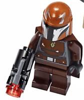 LEGO STAR WARS BROWN MANDALORIAN MINIFIGURE w/BLASTER (75267) - IN HAND