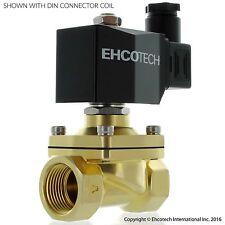 "3/4"" 12VDC SMART COIL Brass Solenoid Valve LOW TEMP Water Air Gas VITON NC B21V"