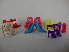 7 Pairs of Shoes Made to Fit Barbie Doll