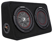 "Kicker 43Tcwrt84 Comprt8 8"" 600w Shallow Car Subwoofer+Slim Sub Box Enclosure"