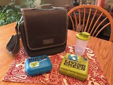 New TUPPERWARE His Urban Eco Lunch Bag & Eco Lunch Set ~ Sandwich Keeper