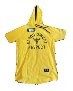 Under Armour x Project Rock Respect Men's Hoodie Yellow/ Black MEN'S SIZE MEDIUM