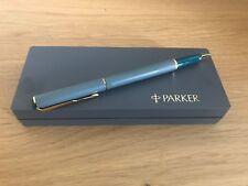 Parker Pen 88 Matte Ball Pen Grey Fine Blue - Classic Parker Pen