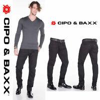 CIPO & BAXX Herren Jeans CD319A NEU Hose Slim Fit Enges Bein Denim Stretch