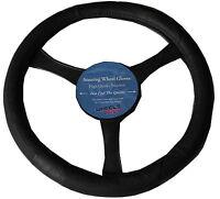 Leather Look Steering Wheel Glove Cover Black to fit Hyundai Elantra Santa FE