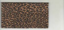 Leopard Checkbook Cover Brand New Wild Animals Fabric Big Cats