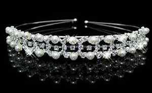 Accessoires mariage cheveux: Diadème princesse losanges - perles et strass