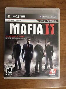 Mafia II 2 PS3 Complete W/ Manual & Map, Tested