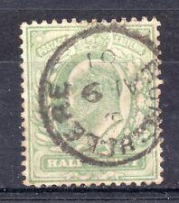 GB = E7 1910 `BURGHCLERE` THIMBLE Single Ring cancel. `01 for 10` (27.09.18)