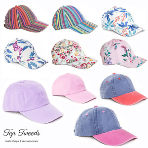 Ladies Womens Floral Baseball Cap Sports Adjustable Sun Hat Summer