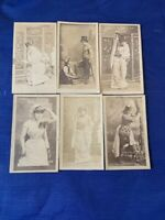 LOT OF 6 CROSS CUT CIGARETTE ACTRESS / ACTOR TOBACCO CARDS.