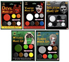HALLOWEEN FACE PAINT MAKE UP KIT SKELETON ZOMBIE VAMPIRE DEVIL WITCH MAKEUP SET
