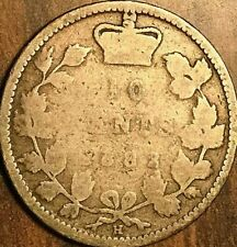 1882H CANADA SILVER 10 CENTS COIN