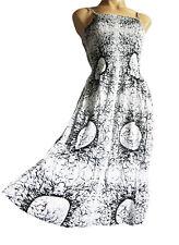 con cinturino estate/Vestito da Spiaggia elasticizzato taglia 10-16 Bianco