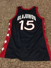 Hakeem Olajuwon Team Usa Olympic Nba Champion Basketball Jersey Size 44 Retro