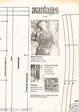 Mi-bustier mi-gilet. AVANTAGES Septembre 2002,Vintage Neuf, non découpé.