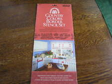 Accent Country Colors Border STENCIL Set #2056 Single Pattern DOWN ON THE FARM