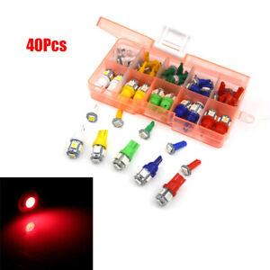 40Pcs Car SUV Dashboard T5  Instrument Panel Light + T10 LED Bulbs Side Marker