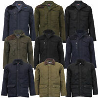 Mens MARENO Jacket Soul Star Coat Padded Quilted Corduroy Brave Soul Winter New