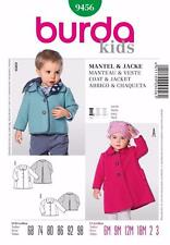 Burda Kids patrón de costura Girls & Boys Abrigo Y Chaqueta 6m - 2-3 9456