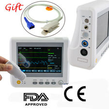 ICU Patient Monitor Monitoring 6parameter ECG/NIBP/RESP/TEMP/PR 7Pin Finger Clip