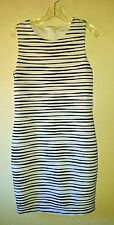 New W/Tag Gorgeous CALVIN KLEIN Size 10 Black White Dress Body Stretch Contour