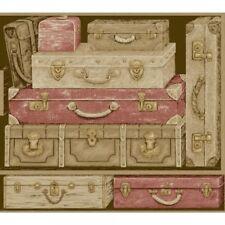 York wallcoverings Designer Wallpaper GX8188 suitcases design