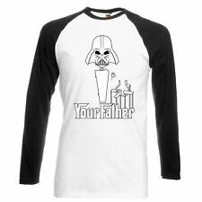 Mens Bestselling Amusing Star Wars Style Funny T-Shirts Dad Boyfriend L/Sleeve