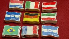 MULINO BIANCO BARILLA sorpresine gommine giocattoli Lotto - RUBBER FLAG TOYS LOT