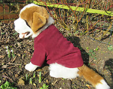 "Large Polar Fleece Dog Coat/Jumper. 18L"" 24""W  16"" N - Bergundy/Wine"