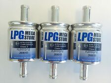 3 Stück Autogas Filter Gasfilter 16 mm LPG CNG 16/16