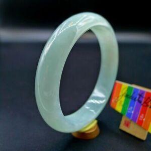 【JadeiteBird】57.3mm Certified 100% Natural Grade A Jadeite Jade Bracelet Bangle