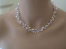 Collier Ivoire/Violet/Mauve/Parme robe de Mariée/Mariage/Soirée perles original